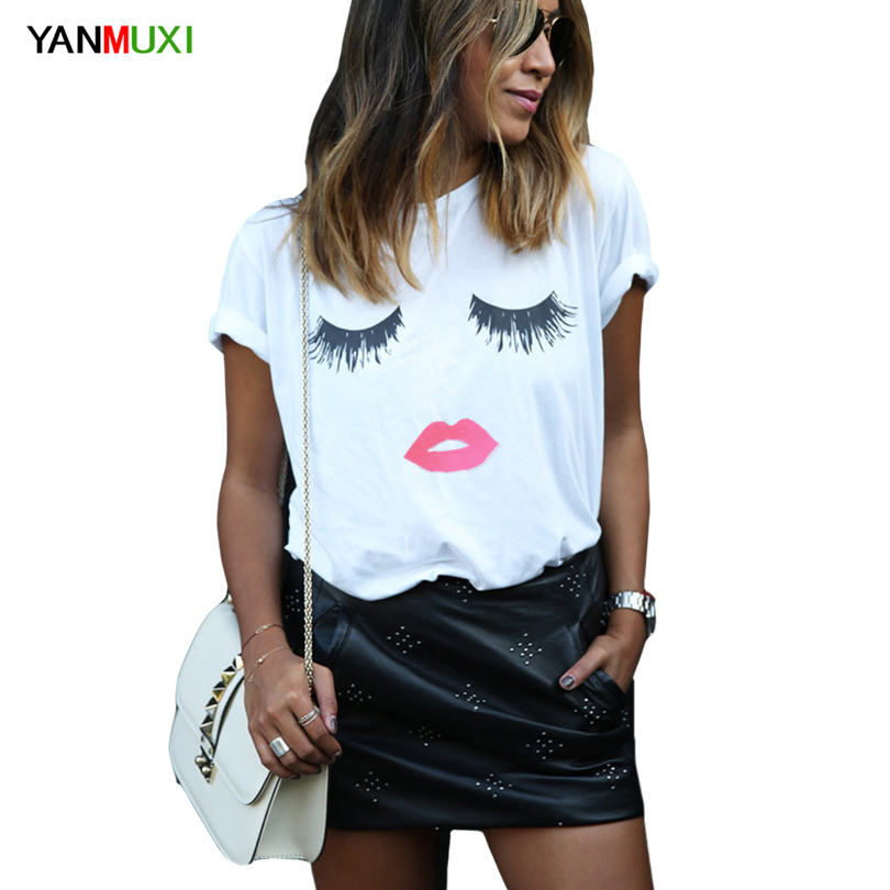 Buy red lips shirt black white and get free shipping on AliExpress.com 220e7499169e