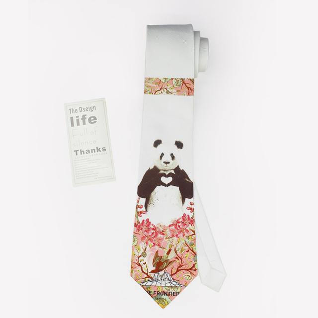 2016 dos desenhos animados imprimir kravat lenço no pescoço gravata gravata do noivo do casamento do homem moda masculina mariage designer vintage panda gravata fina