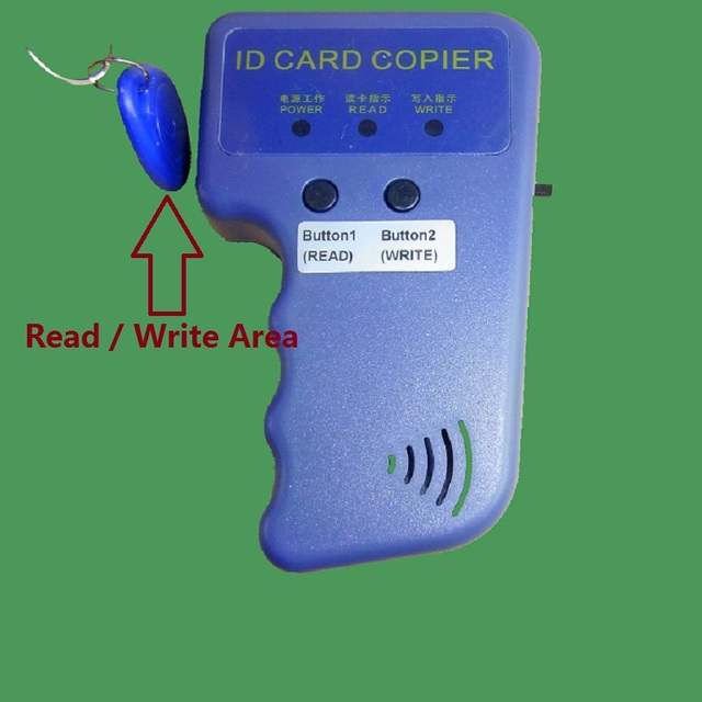 Handhold Portable 125khz RFID H-ID PROX-CARD PROX-KEY Card Reader Writer Copier Duplicate Duplicator Compatible EM4305 T5577