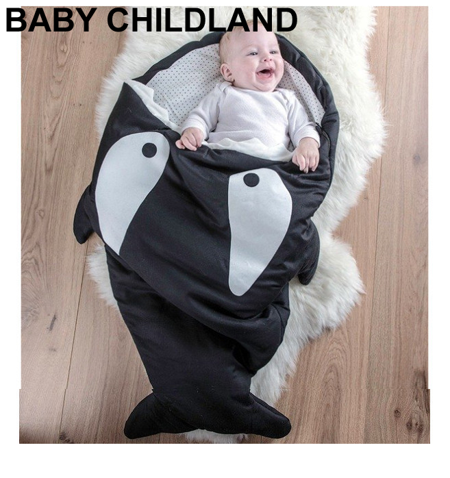 Cartoon shark baby blankets Newborns Winter Strollers Bed Swaddle Blanket Wrap Bedding baby swaddle sleeping blanket
