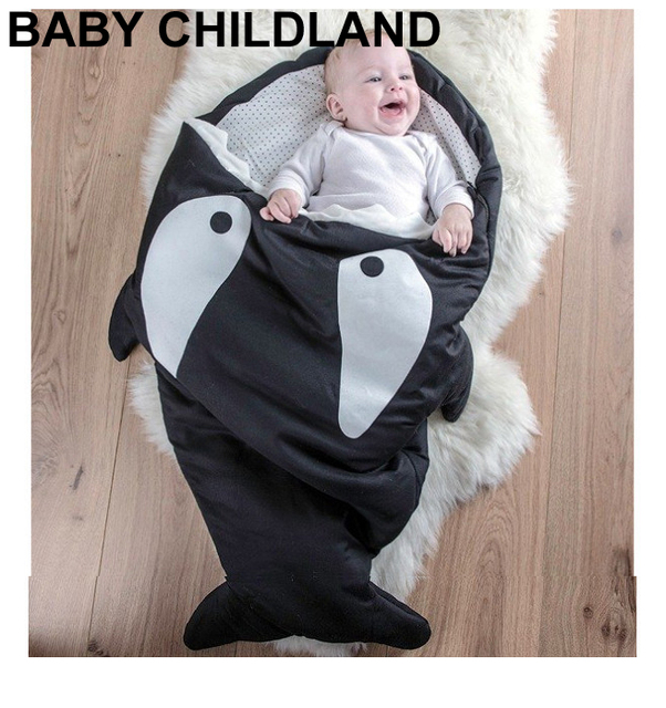 Cartoon shark baby blankets Newborns Winter Strollers Bed Swaddle Blanket Wrap Bedding baby swaddle sleeping blanket