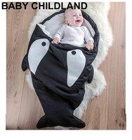 Cartoon shark baby coperte Neonati Inverno Passeggini Letto Fasciatoio Blanket Wrap Biancheria Da Letto del bambino swaddle sacco a pelo coperta