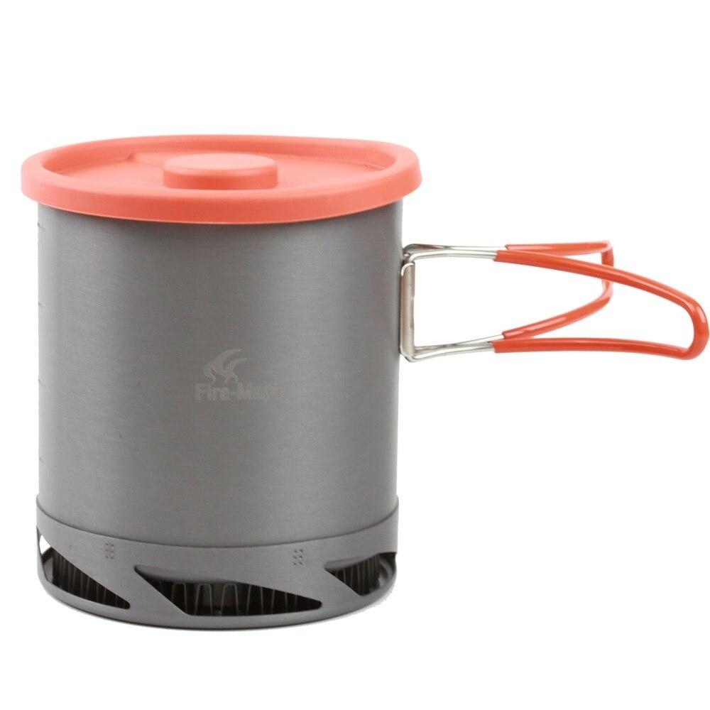 화재 단풍 나무 야외 캠핑 열 수집 교환 주전자 컵 접이식 핸들 하이킹 세트와 피크닉 조리기구 주전자 1L FMC-XK6