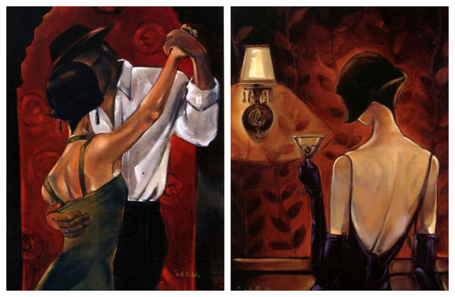 free shipping impressionist painting dance red wine canvas prints oil painting on canvas club wall art decoration picture