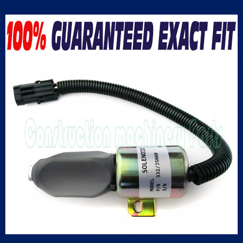 где купить New 332/J5060 Fuel Shutoff Solenoid For JCB JS130 JS160 JS180 JS240 JS260 24V - Free shipping дешево