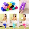 Girls Kids Children Velvet Leggings Solid Candy Color Underpants Trousers   plduiying