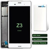DHL 10 יחידות 100% מסך LCD חדש עבור Sony Xperia Z3 מסך מגע LCD Digitizer עצרת עם מסגרת שחור/לבן/זהב