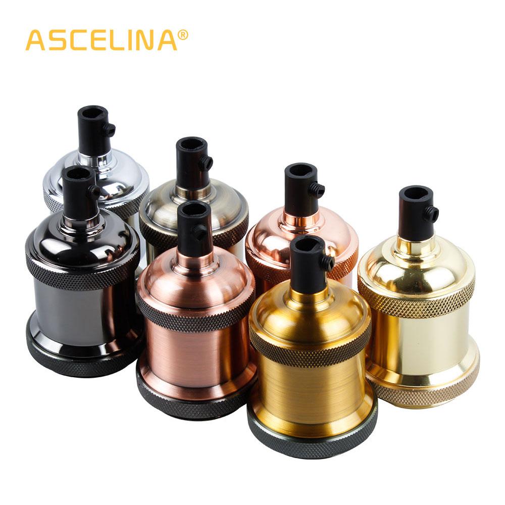 Vintage Edison Lamp Base Pendant Light E27 Screw Bulb Base Aluminum Light Socket Industrial Retro Fittings Lamp Holder Fixture