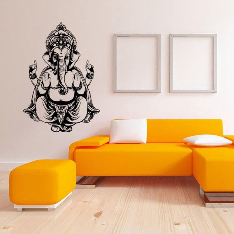 Elefante Buda Mandala Yoga Adesivos De Parede DIY Home Decor Da Parede Do  Vinil Decalques Para Sala De Estar Removível Mural Em Adesivos De Parede De  Home ...