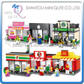Mini Qute HSANHE 6 styles kawaii sport retail store Shop kids diamond plastic building blocks model brick educational toy