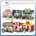 Mini Qute kawaii HSANHE 6 estilos deporte al por menor tienda de la tienda de diamante para niños bloques de construcción de plástico de ladrillo modelo de juguetes educativos