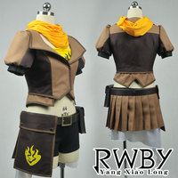 RWBY Yellow Yang Xiao Long Cosplay Costume Jacket+Tube top+Neckerchief+Belt+Waist Bag+Shorts+Gloves+Socks+Puttee high quality