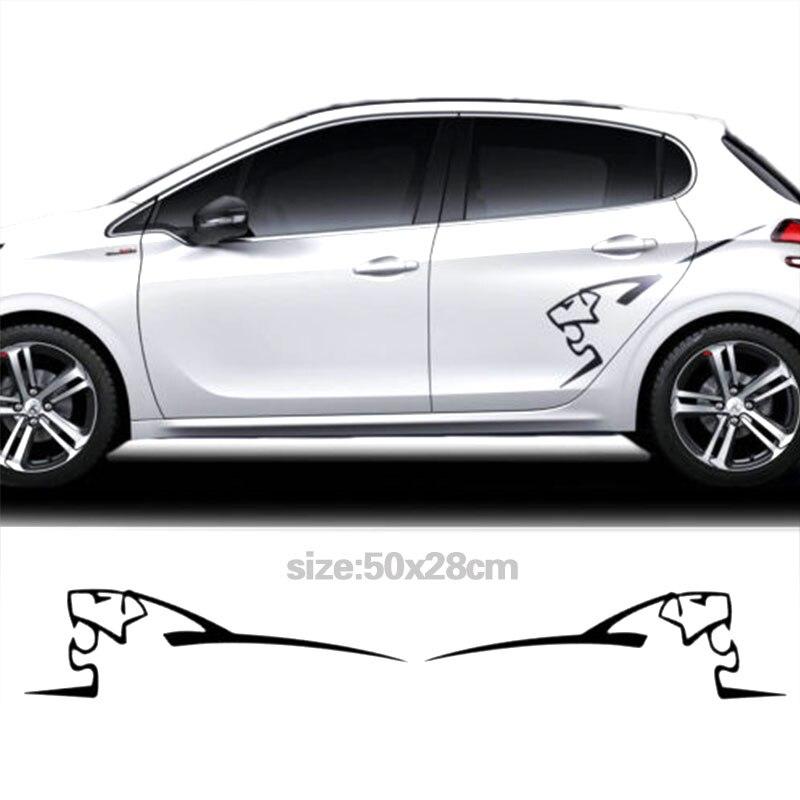 YONGXUN 2pcs for Peugeot 208/306 Side Graphics Logo Decal Stickers Multi ColourSticke DA-G5786
