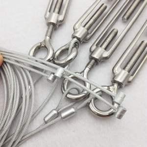 Image 5 - 4 قطعة M4/M5/M6/M8/M10/M12 كُبشة وخطاف الفولاذ المقاوم للصدأ 316 قابل للتعديل سلسلة تزوير هوك تدوير سلك سلسلة حبل الموتر