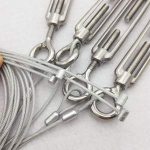 Image 5 - 4 Pcs M4/M5/M6/M8/M10/M12 아이 훅 턴버클 스테인레스 스틸 316 조정 가능한 체인 리깅 후크 회전 체인 와이어 로프 텐셔너