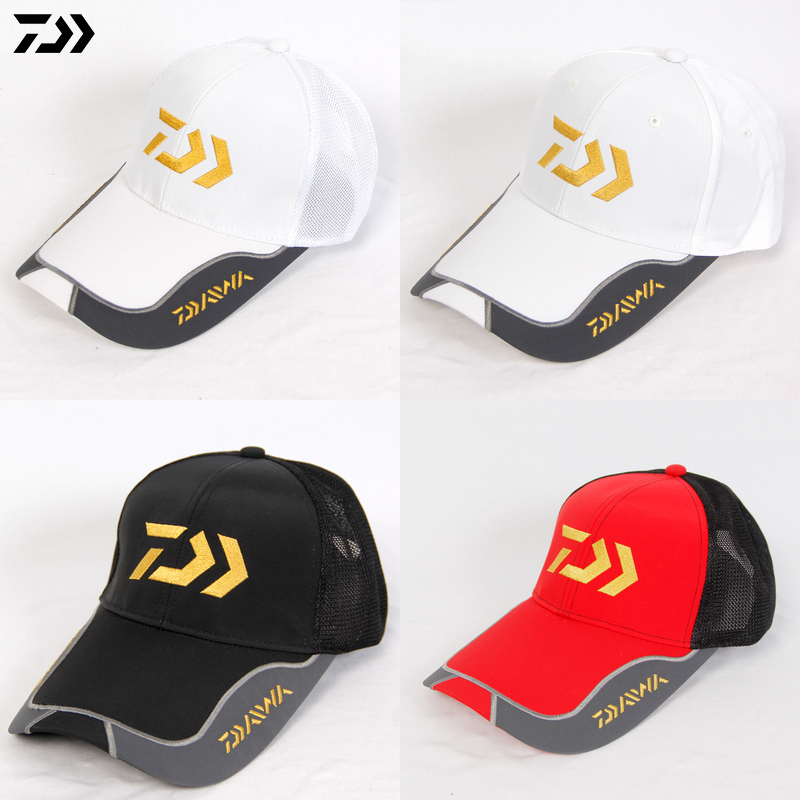 Daiwa Summer Sunshade Fishing Caps for Men Outdoor Fishing Windproof Breathable Quick Dry Sports Golf Running Sun Protection HatDaiwa Summer Sunshade Fishing Caps for Men Outdoor Fishing Windproof Breathable Quick Dry Sports Golf Running Sun Protection Hat