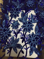 5yards Lot 2017 High Quality Nigerian French Lace African Lace Fabric For Party Dress Blue Africa