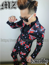 S-5XL  Men's Artist DJ hate costume brand fashion stage clothing bar formal dress Men blazer Suits