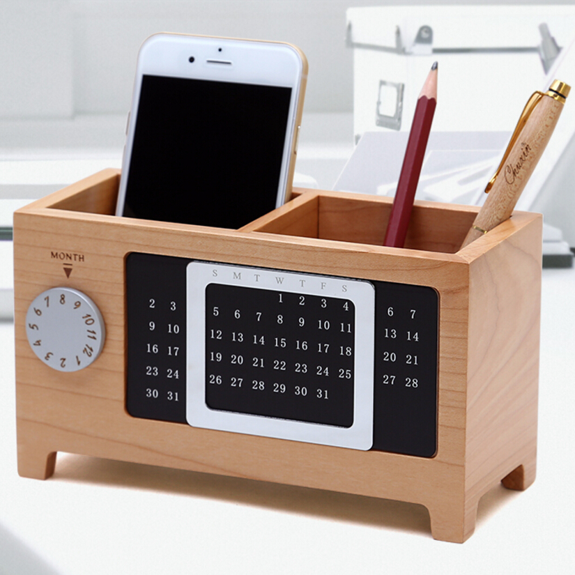 Wooden Pen Creative Fashion Office Supplies Stationery Desk Box Wood Cute  Ornaments Office Accessories Pen Holder Pencil Holder In Pen Holders From  Office ...