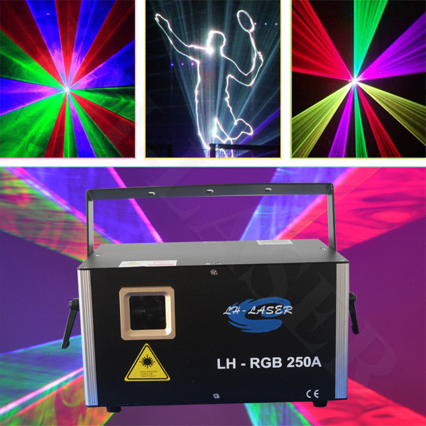 ILDA+Network Multi color lighting Animation RGB 3w Laser Show stage christmas laser disco light writing