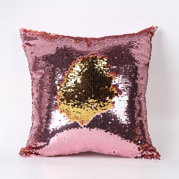 Festival Dropshipping Pillow case new Double Color Glitter Sequins Throw Pillow Case Cafe Home ...