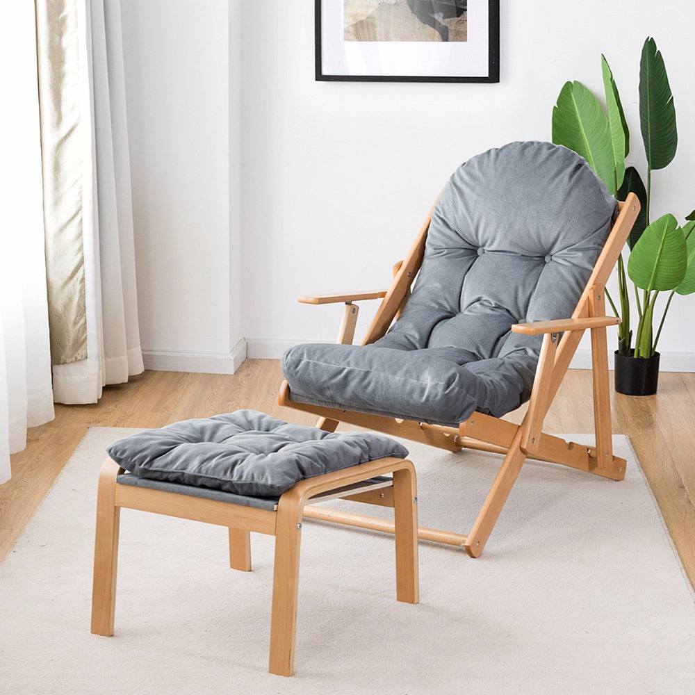 Peachy Folding Recliner Adjustable Padded Lounge Chair For Patio Deck With Ottoman Cjindustries Chair Design For Home Cjindustriesco
