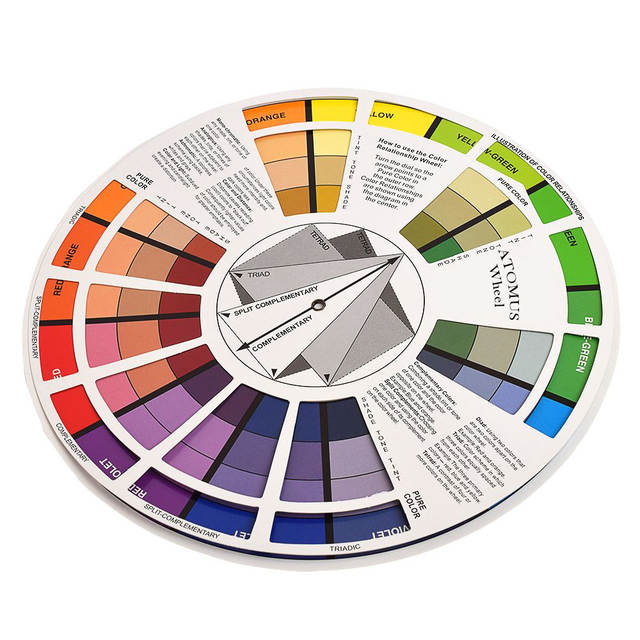 Online Shop Atomus 1pc Tattoo Ink Color Wheel Chart Tattoo Permanent