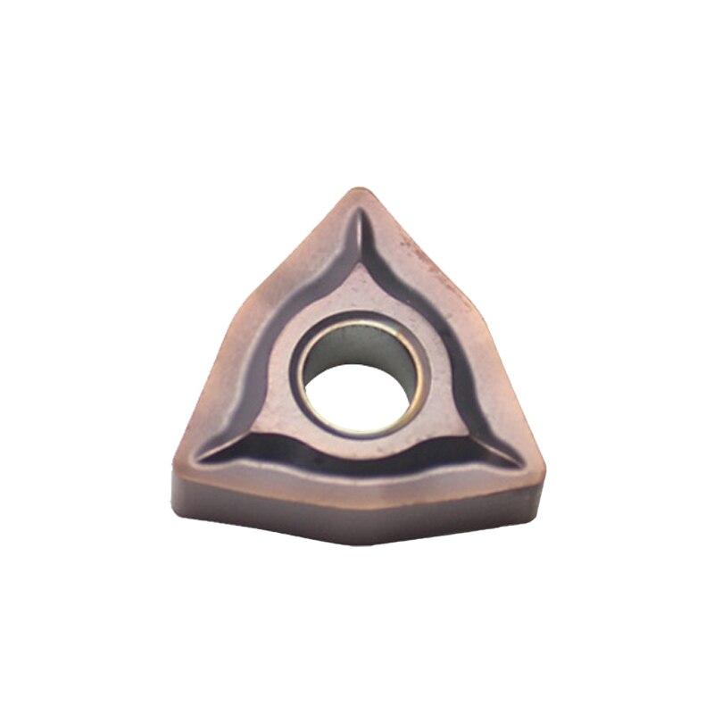 10PCS PROMOTION ITEM WNMG080408-EF YBG205 (WNMG432) Tungsten Carbide PVD coated Insert For External Turning Tool WNMG 080408 -EF