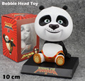 "Free Shipping Cute 4"" Movie Kung Fu Panda 3 Po Bobble Head Shaking Head Toy Model Car Decoration Boxed PVC Action Figure Toy"