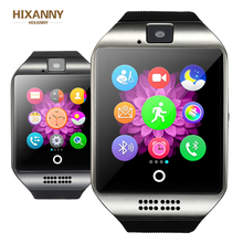 HIXANNY Bluetooth Smart Uhr Q18 Mit Kamera Facebook Whatsapp Twitter Sync SMS Smartwatch Support SIM TF Karte For IOS Android