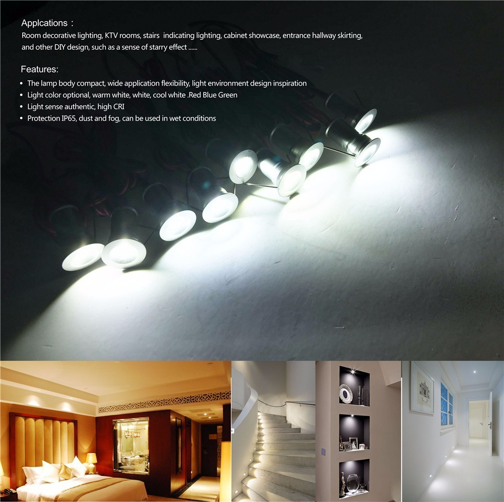 Mini 1W LED Spotlight Indoor Corridor Stair Lighting AC85 277V Dimmable  120D Ceiling Light 15mm Cutout Wholesale 1W*9pcs/set  In LED Spotlights  From Lights ...