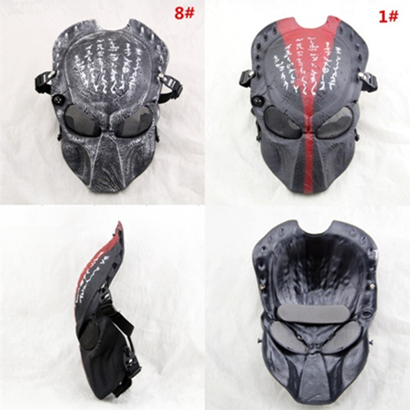 The New Predator Skull Mask Protective Face With In CS Field Out Door Games Halloween Dance Movie Props 8 Color Available