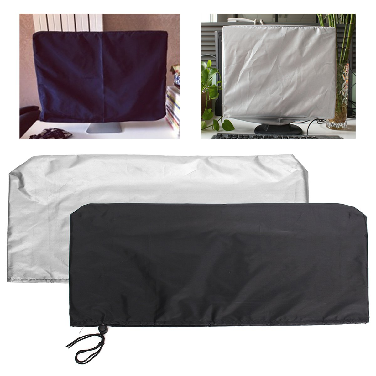 24 Inch Computers Flat Screen Monitor Dust Cover PC TV Fits Tablets Protectors Polyester Computer Covers Soft Lining 2 Colors