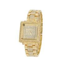 2016 Nuevas Señoras de La Manera Cristalina Del Diamante Del Rhinestone Ocasional Mira a Las Mujeres de Belleza Vestido de Cuarzo Relojes de Las Mujeres Horas Reloj Mujer