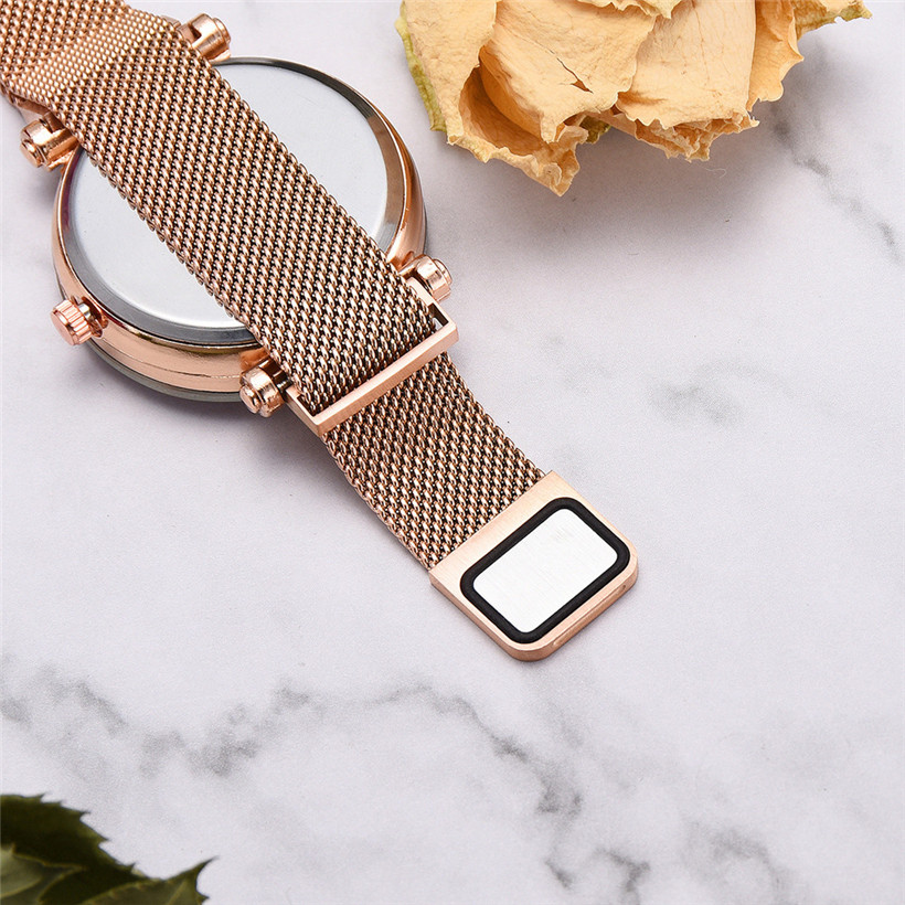 Fashion Women 39 s Starry Sky Watches Luxury Rose Gold Ladies Mesh Magnetic Watch Waterproof Female Wristwatch for Gift Clock 2019 in Women 39 s Watches from Watches