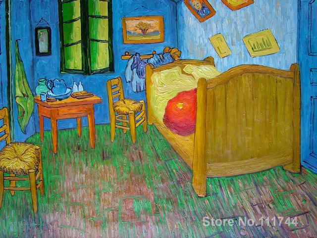art for living room wall Vincents Bedroom at Arles by Vincent Van ...