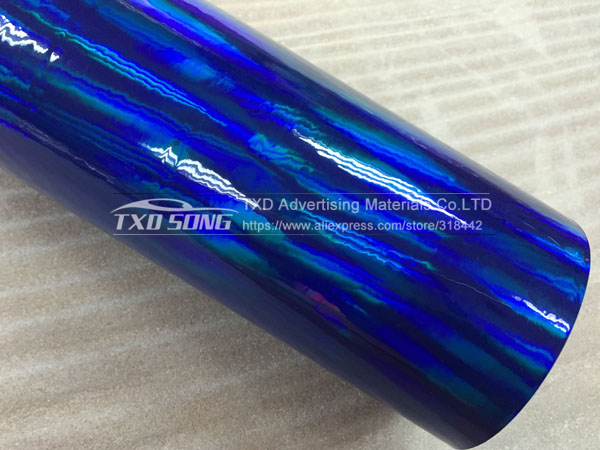 30 см X 152 см/лот голографическая Автомобильная виниловая пленка для украшения кузова автомобиля с воздушными пузырьками, автомобильная наклейка - Название цвета: BLUE