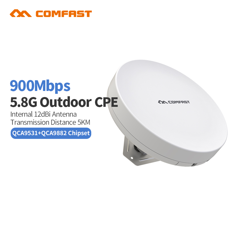 New COMFAST CF-E212AC Outdoor CPE 5.8G wireless Router AP 900mbps Wifi Access Point Router Wi Fi bridge Repeater Signa Amplifier