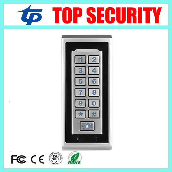 Smart proximity 13.56MHZ MF card metal access controller surface waterproof IC card reader standalone door access control system smart 13 56mhz mf ic card proximity card access control door opener rfid surface waterproof standalone access control system
