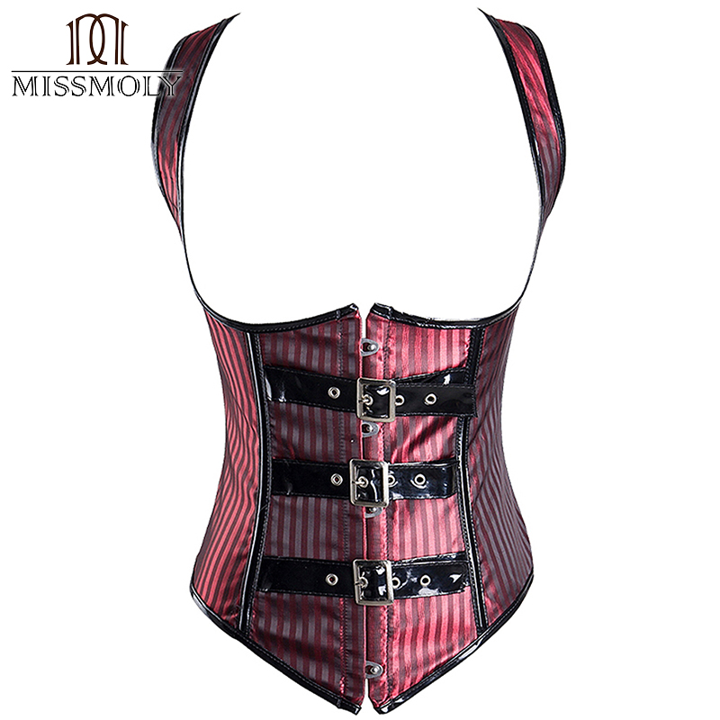 c10505a78a Detail Feedback Questions about Miss Moly Gothic Steampunk Clothing Underbust  Corset Lace up   Buckles Slimming Corsets and Bustiers Shapewear Black Red  S ...