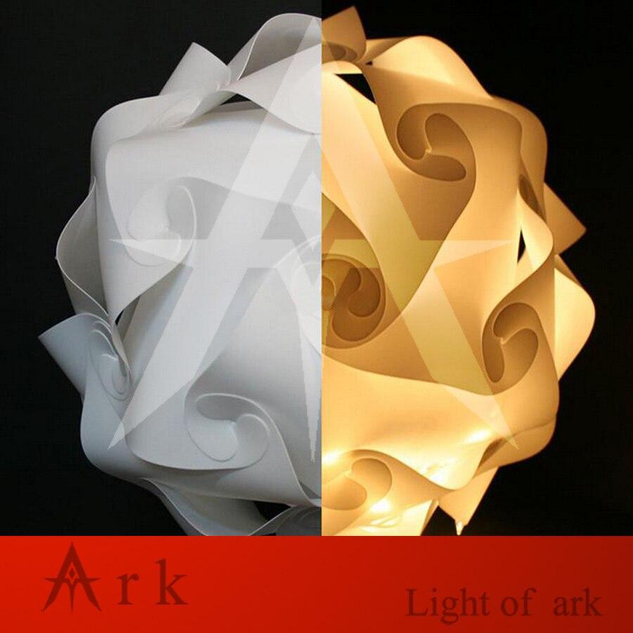 25 cm/30 cm/40 cm blanc couleurs 30 pcs Éléments Moderne DIY IQ Puzzle Bar Décor Jigsaw lumière Abat-jour Plafond Abat-Jour