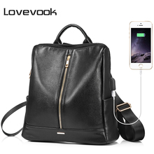LOVEVOOK backpack women schoolbag for girls teenagers with external US