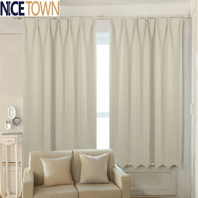 ready made solid color Thermal Insulated blackout curtains with ...