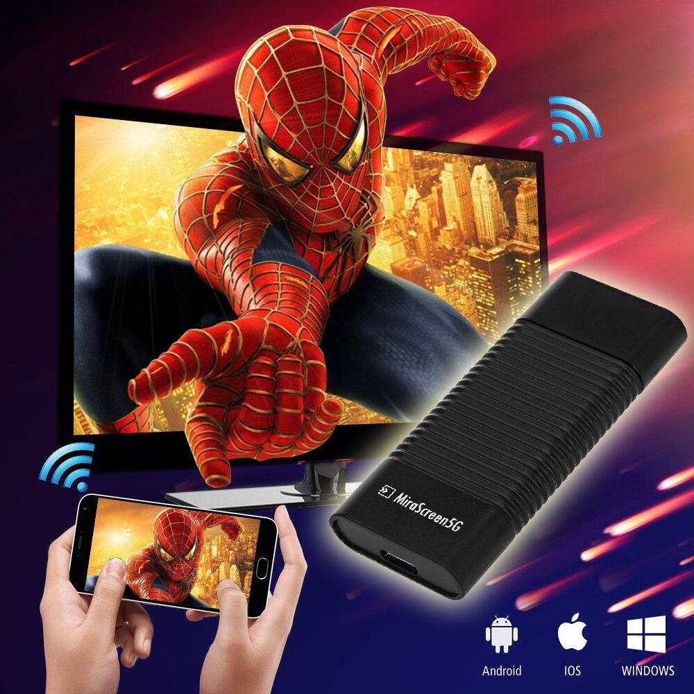 เดิมMiraScreen 5กรัมWiFiทีวีDLNAออกอากาศMiracastอากาศMirroringทีวีติดความเร็วในการส่งสูงแสดงตัวรับสัญญาณ