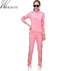 Wmwmnu new arrival 2017 spring 2 piece set runway tracksuits women long sleeve casual sporting suits.jpg 250x250