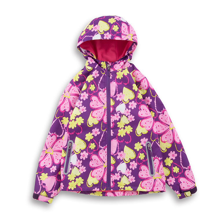 Waterproof Windproof Floral Printing Child Coat Baby Girls Jackets Warm Children Outerwear Clothing For 3-12 Years OldWaterproof Windproof Floral Printing Child Coat Baby Girls Jackets Warm Children Outerwear Clothing For 3-12 Years Old