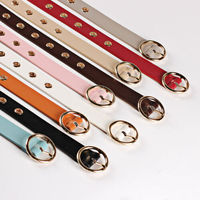 Vintage Women Metal PU Leather Round Buckle Waist Belt Fashion Boho Waistband Belts
