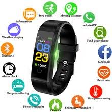 Умный Браслет монитор сердечного ритма Монитор артериального давления цветной экран вибрирующий будильник pk fitbits miband 3