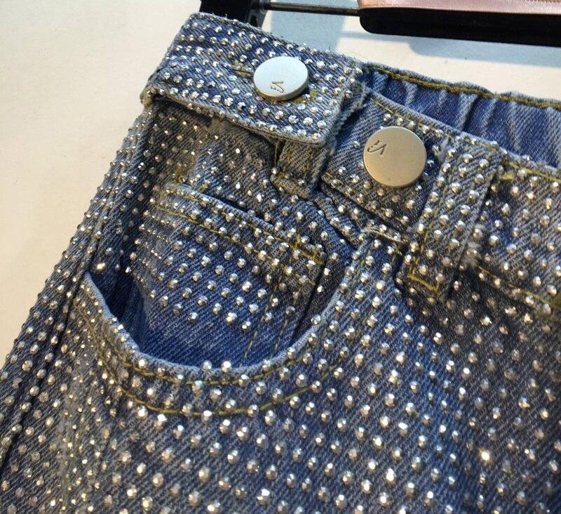 Lavado De Pantalones Vaqueros Calle Taladro Jeans Europeo Denim Nuevo 2019 Azul Caliente Alta Pesado Cintura Primavera 7Oqdv