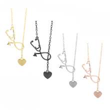 dongsheng Stethoscope Necklace Heart and Stethoscope Pendant for Doctor medical student Gift the Doctor Nurse Jewelry -30